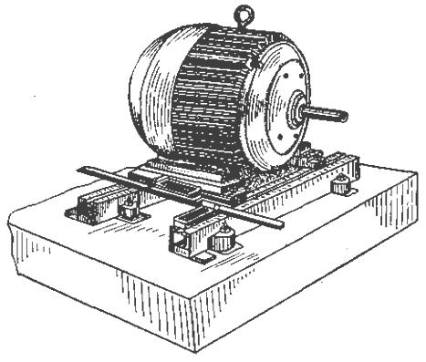 Монтаж электродвигателя на фундаменте Бесплатные дипломные  Рисунок