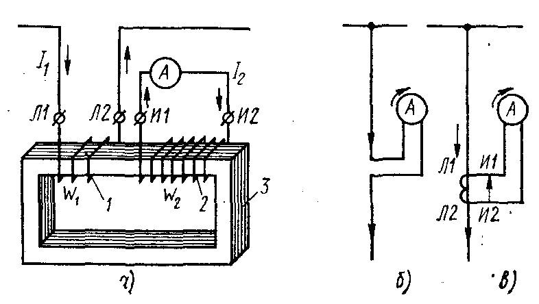 а — устройство, б, в — схемы