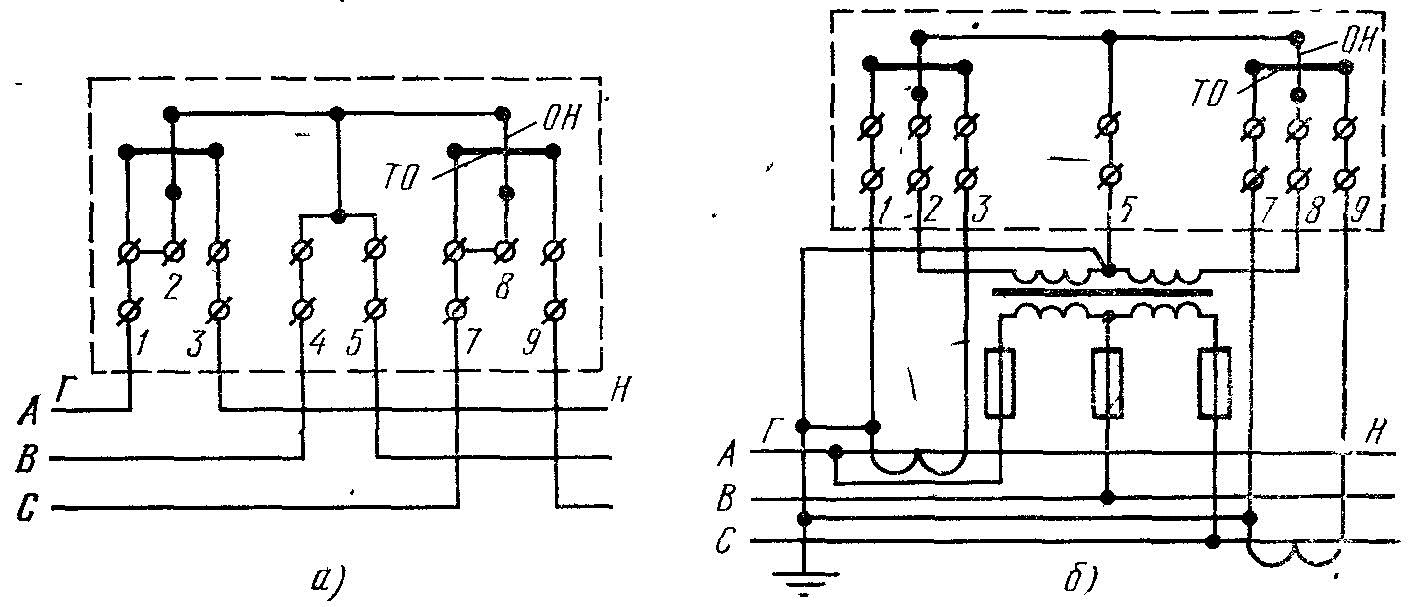 подключение трехфазного счетчика схема