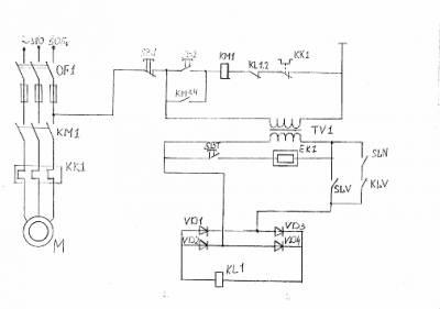 Схема управления водонапорной башни